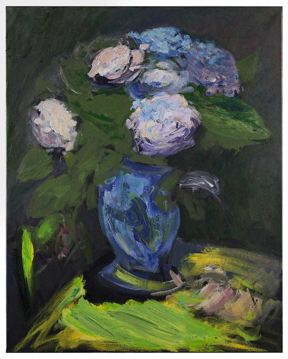 Tableau d'Hortensias bleus (par Patrice Giorda)