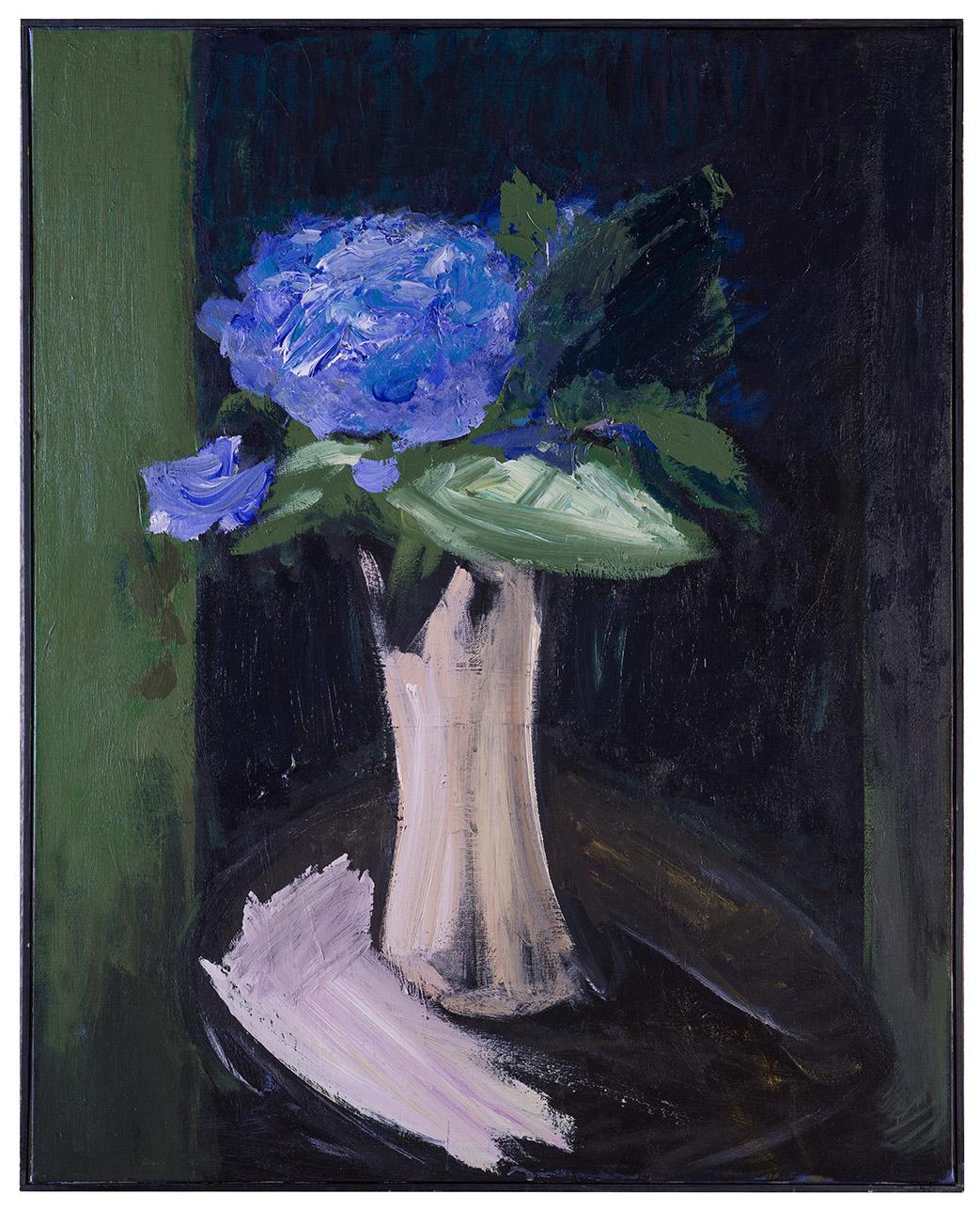 Tableau d'Hortensias et vase blanc (par Patrice Giorda)